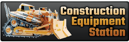 Construction Equipment Station Logo